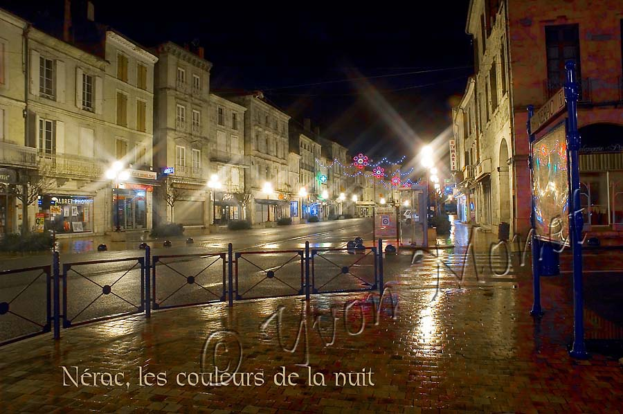 Nerac by night